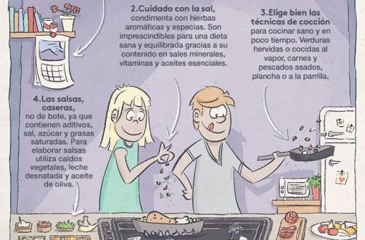 Cocinar alimentos para niños: cocina a gas